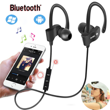 Wireless Bluetooth Earphones Waterproof IPX5 Headphone Sport Running Headset Stereo Bass Earbuds Handsfree With Mic Music цена и фото