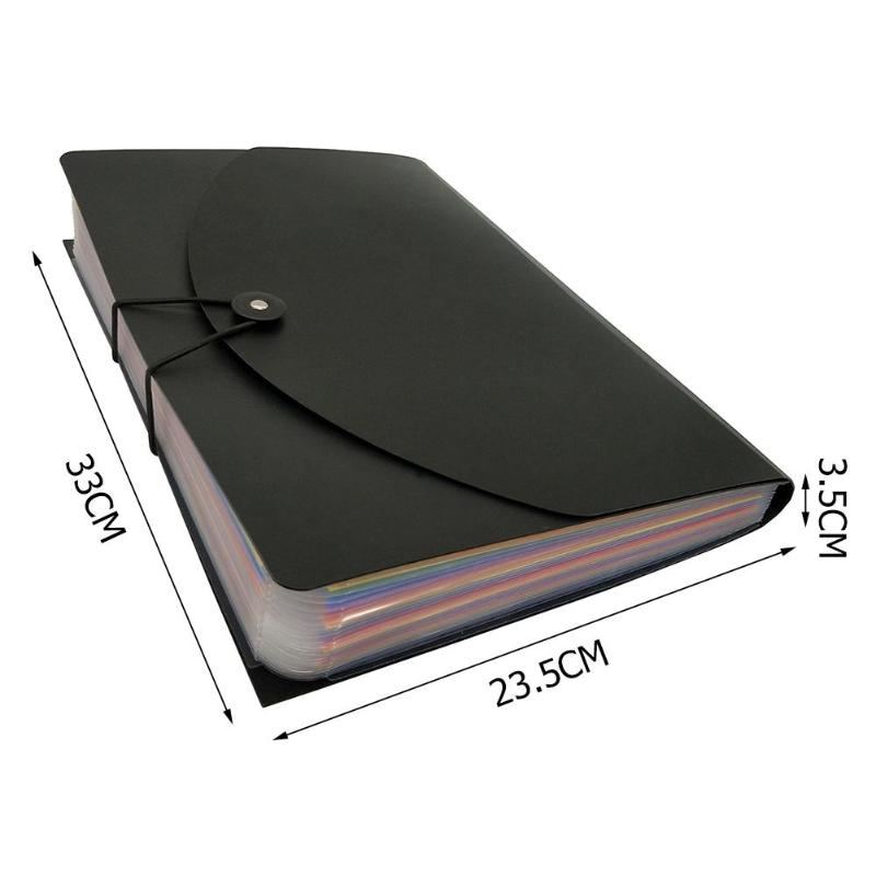 12/24 Pockets Classified File Folder A4 Organizer Business File Office Supplies Document Holder with Cover Filing Products 6