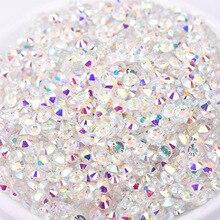 1440pcs swarovsky Transparent Stone Nail Art Supplies Glass Caviar Bead AB  for Nails Art Decoration 3D 1bd8ed0c4e64