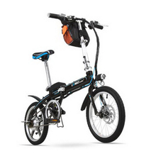 LANKELEISI 16 inch mini Foldable Electric Bicycle 36V lithium battery ebike Easy carry adult Electric bike