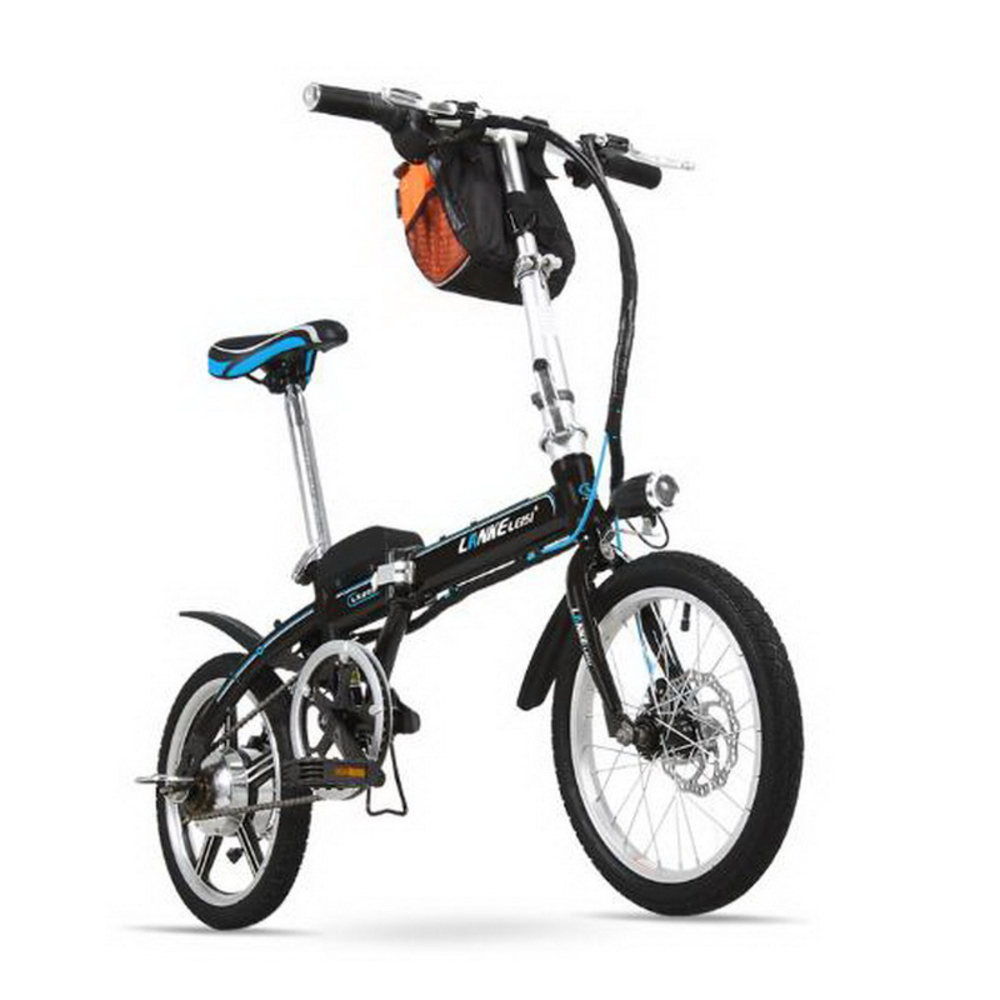 LANKELEISI 16 inch mini Foldable Electric Bicycle 36V lithium battery ebike Easy carry adult Electric font