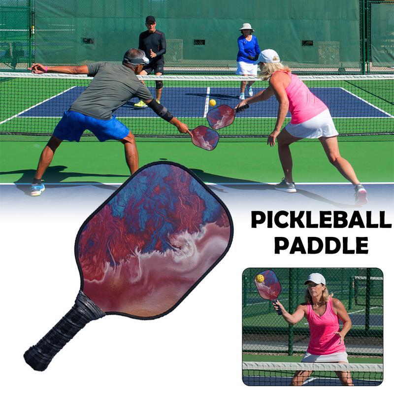New Pickleball Paddle Colorful Fiberglass Beat Racquet Honeycomb Beat Racquet Polymer Composite Pickleball Paddle
