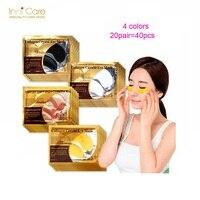 Красота 24 К Золотая коллагеновая маска для глаз патчи для глаз темный круг Акне Патчи для подушек для глаз уход за лицом корейская косметика 40 шт. = 20 пар