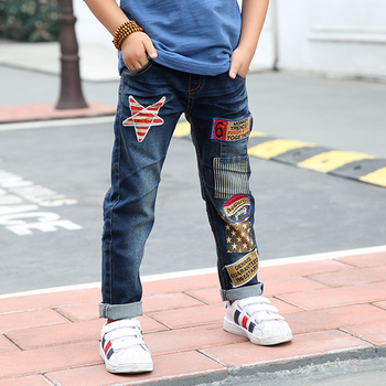 3-14Y Fashion Boys Jeans Trousers Cowboys Autumn Kids Clothes Casual Baby Pants Toddler Casual Boy Denim Pants Children Clothing 1