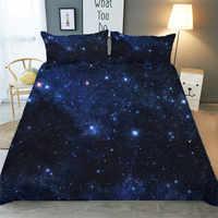 Set di biancheria da letto 3D Stampato Duvet Cover Bed Set Stellata Galaxy Tessuti per La Casa per Adulti Biancheria Da Letto con Federa # XK06
