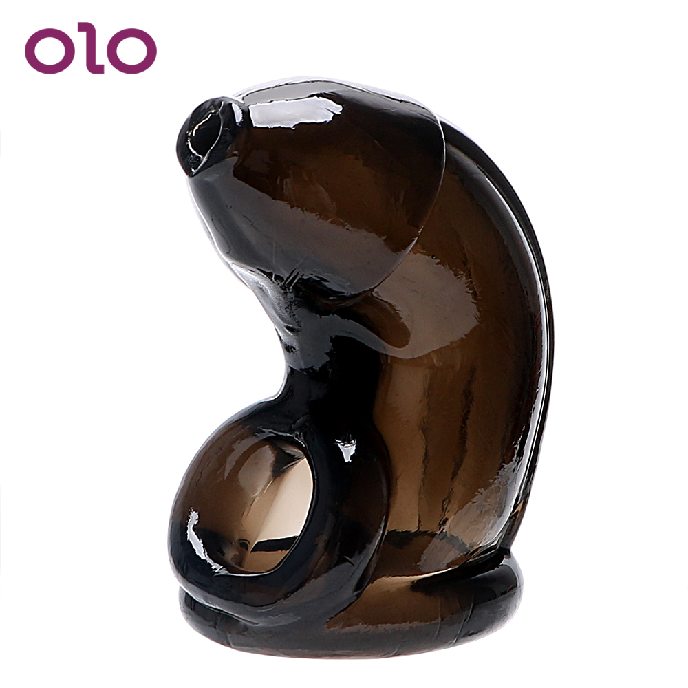 OLO Penis Sleeves Penis Ring Chastity Penis Extender Enlargement Reusable Condom Male Chastity Device Cock Cage Sex Toys For Men
