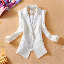 Female suit women blazer elegant three quarter sleeve blazers