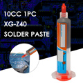 GOOD 1pc 10cc Needle Shaped Xg-z40 Solder Paste Flux Sn63/Pb37 25-45um Syringe to Mobile Phone Repair Computer Services Industry