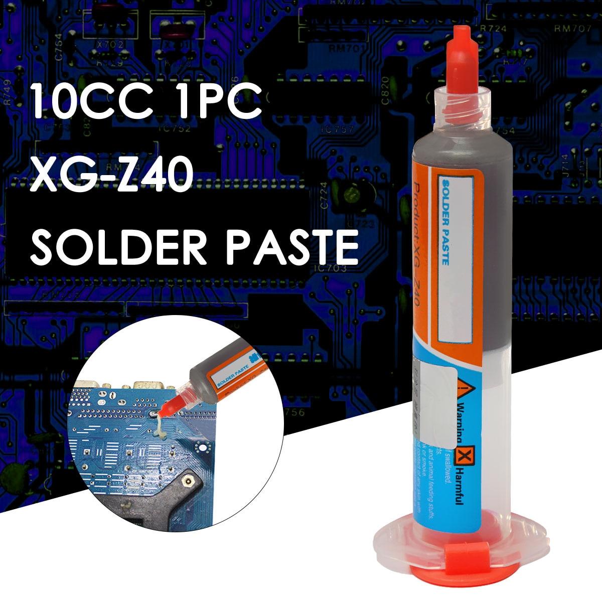 GUTE 1 stück 10cc Nadel Geformt Xg-z40 Solder Paste Flux Sn63/Pb37 25-45um Spritze zu Handy Reparatur Computer dienstleistungen Industrie
