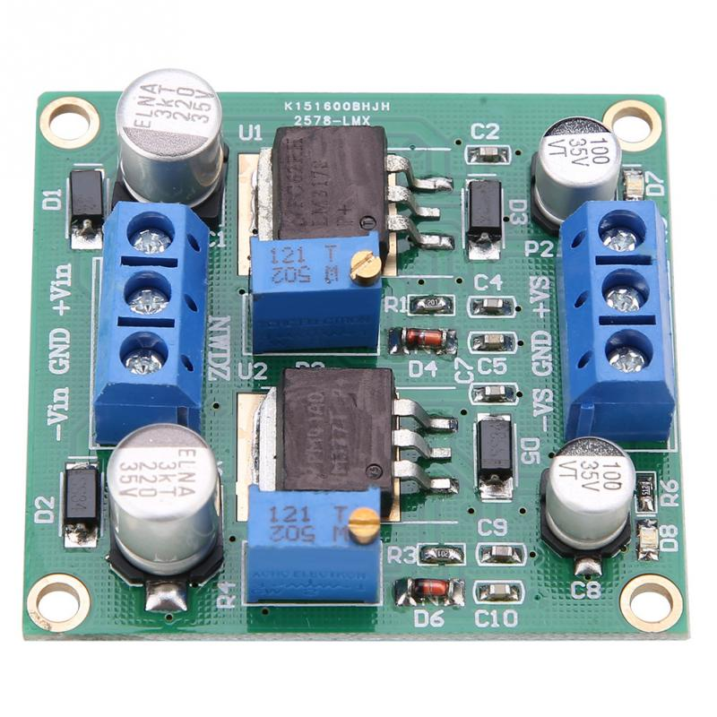 LM7915 ±15V dual voltage regulator rectifier bridge power supply moduSN LM7815
