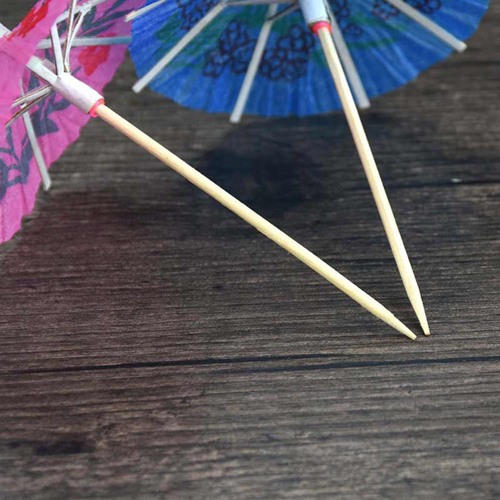 140Pcs Disposable Kue Buah Kertas Koktail Unicorn Bunga Koktail Dekoratif Toppers untuk Pesta