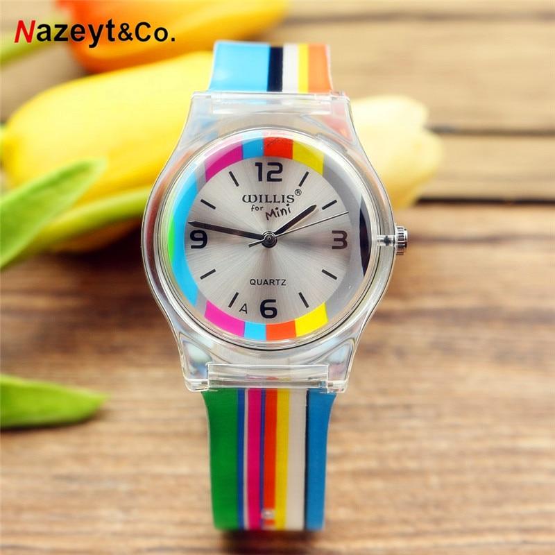Reloj Femenino New Fashion Women Young Girls Quartz Watch Lovely Casual Dial Silicone Children Jelly Wristwatch Reloj De Cuarzo