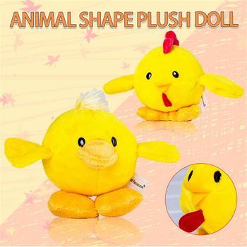 Muñeco de peluche con forma de Animal, pollito, pato, simulación,  caricatura Vocal, juguete de felpa corto para niños, decoración de fiesta  de Pascua
