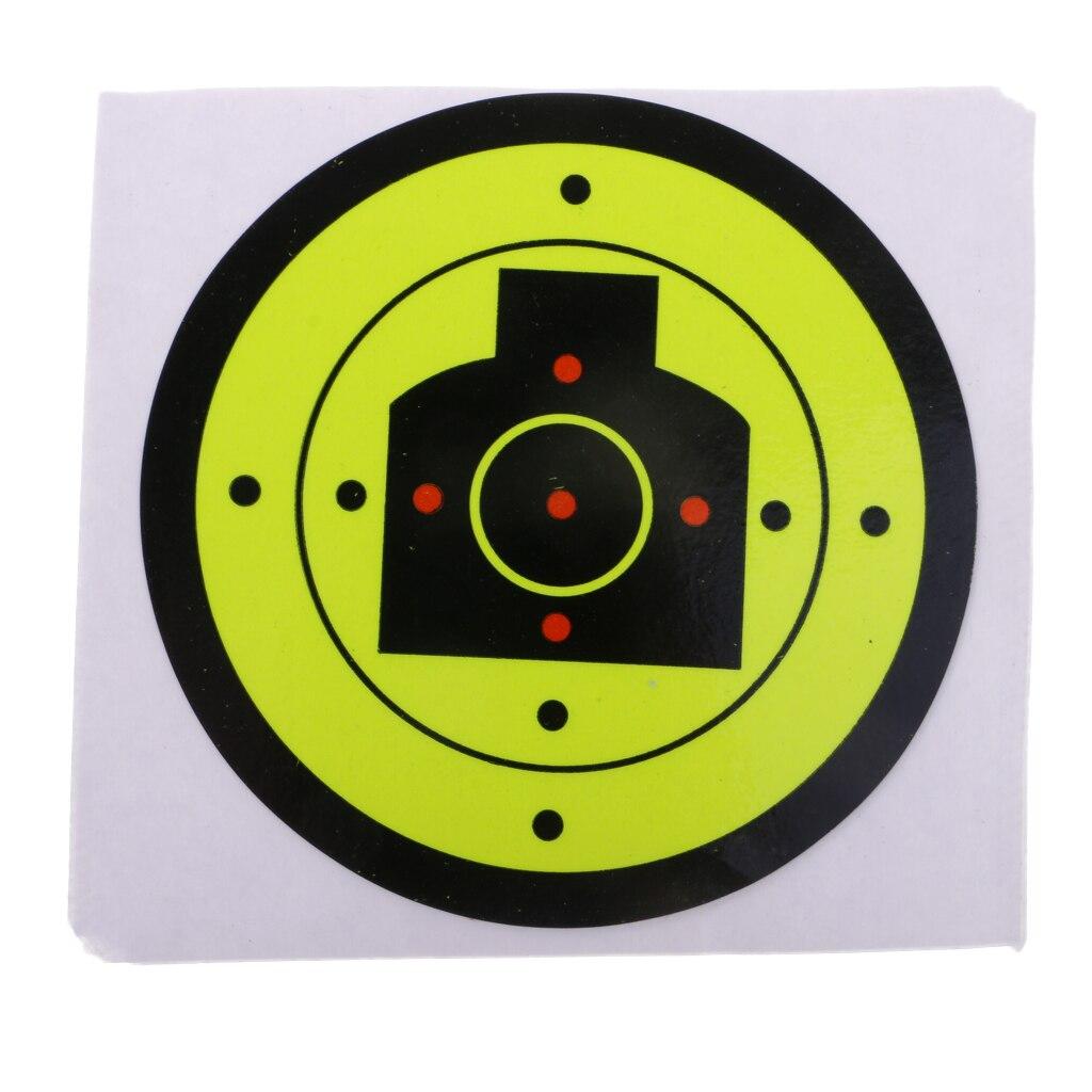 100pcs Shooting Target Paper Adhesive Splatter Sticker Reactive Shots Target Paintball Accessories