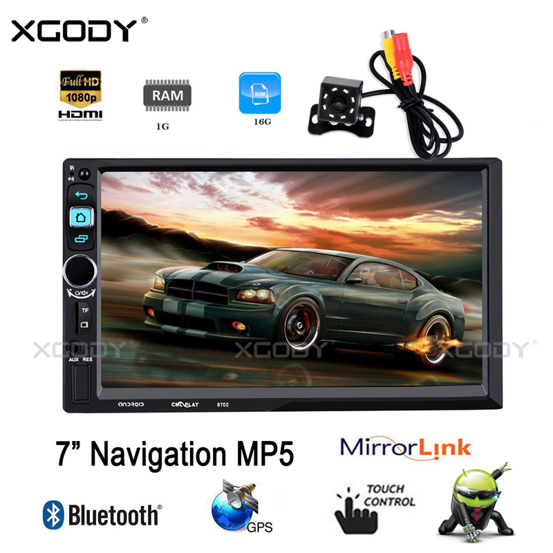 XGODY 7 Inch 2 Din Car Radio GPS Navigation Android 6.0 Quad Core 1G+16GB Autoradio Stereo Bluetooth WiFi Rear Camera MP5 Player