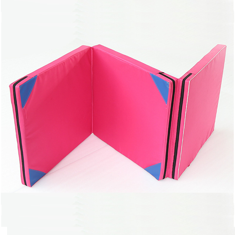 5CM Thick <font><b>Gymnastic</b></font> <font><b>Mat</b></font> Tri-Fold Durable Folding <font><b>Gymnastic</b></font> <font><b>Mat</b></font> Tumbling Exercise Yoga Fitness Pad for Gym Aerobics Martial Arts image