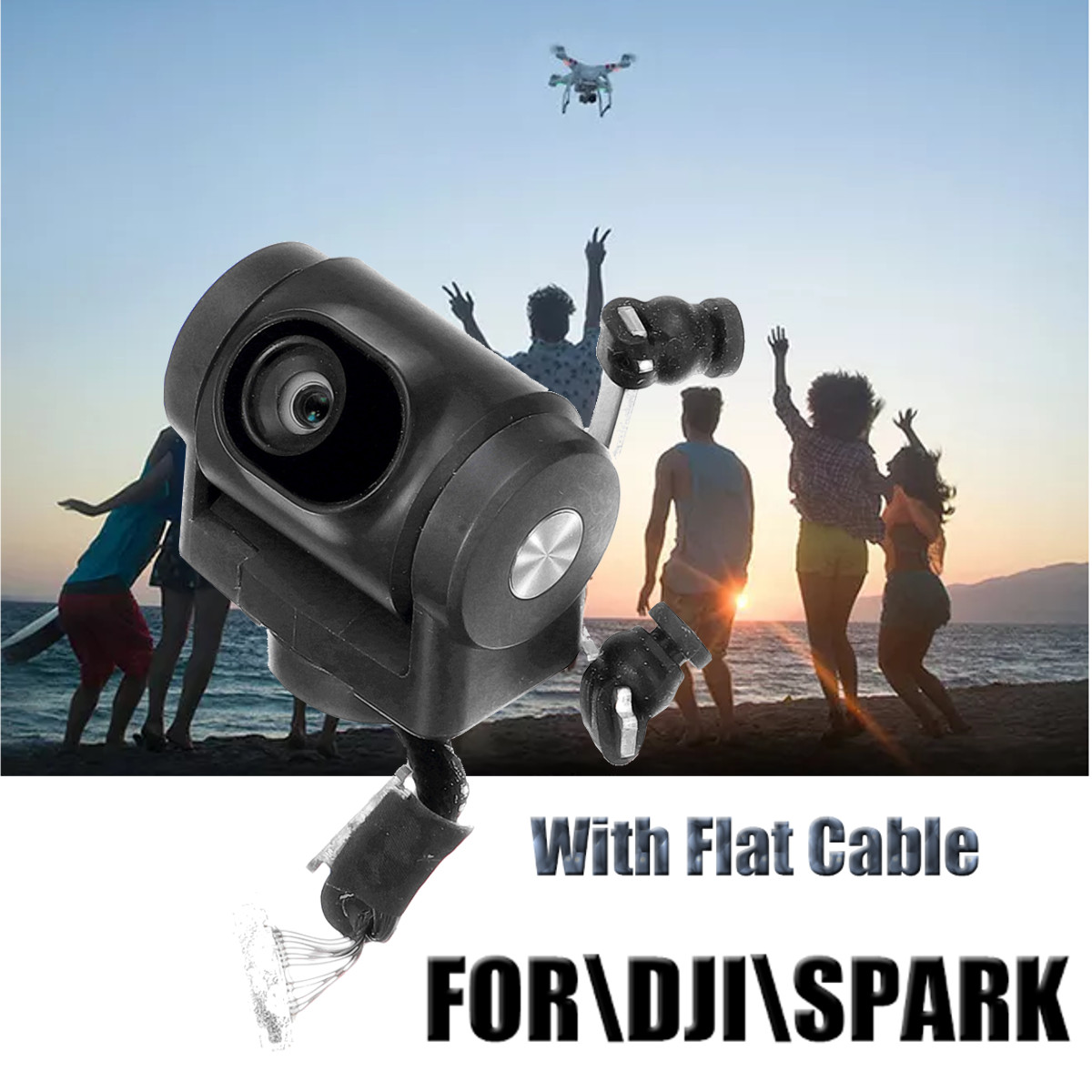 Gimbal Camera Spark RC Drone Repair part FPV HD  Repair Part For DJI Spark Drone s With Flat cableGimbal Camera Spark RC Drone Repair part FPV HD  Repair Part For DJI Spark Drone s With Flat cable