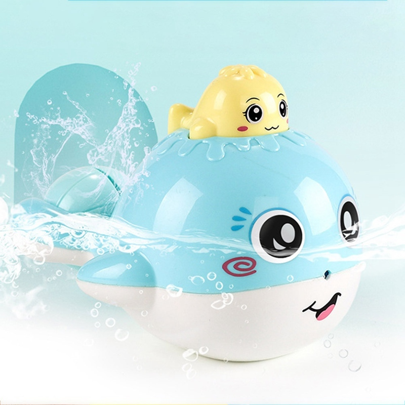 1Pcs Animal Cartoon Baby Boys Floating Spraying Water Toys Funny Whale Bebe Bath Shower Products For Children Bathroom Toys #YC