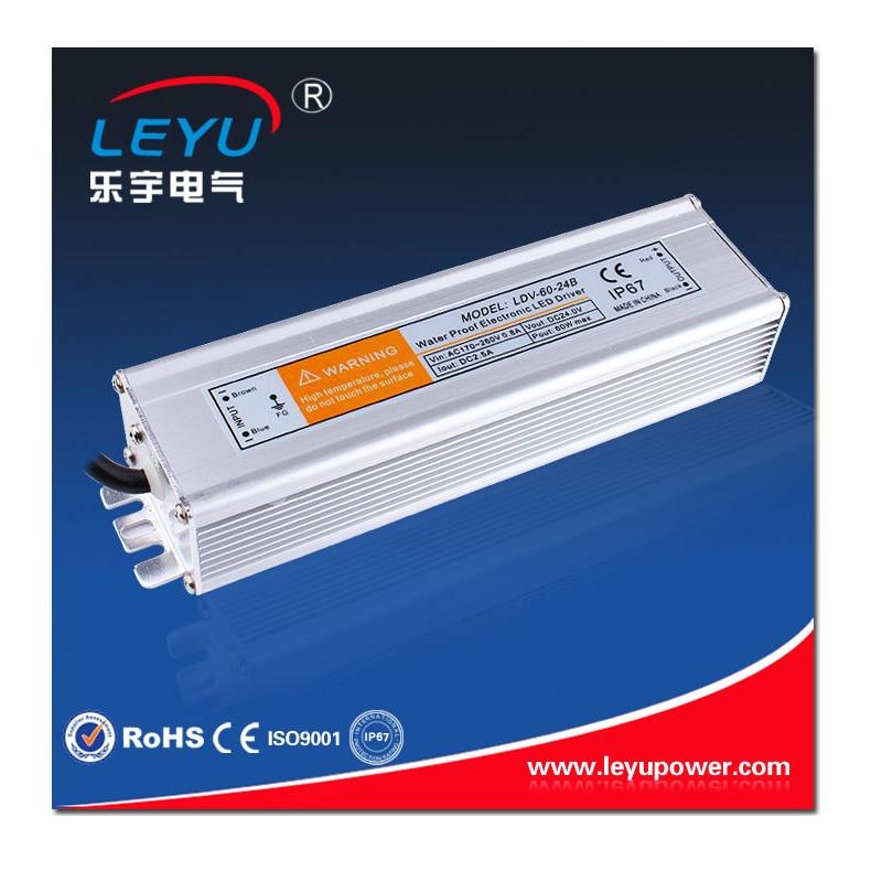 LDV-30-24 AC-DC 85-264VAC to 24V 1.2A Single Output Waterproof IP67 Power Supply