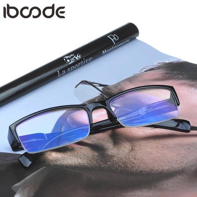 iboode Reading Glasses Women Men Half Frame Vintage Hyperopia Eyeglasses /Blue Film Eye Protection Retro Optical Glasses Eyewear