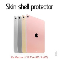 New Skin Shell Protector Sticker film cover For iPad Pro 11 12.9 inch (A1980/A1876) Back Shell Protect Paster Scratch Resistent