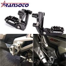 RANSOTO CNC алюминиевый складной задний Набор подножка ножная педаль пассажирские Rearsets для HONDA X ADV X-ADV 750 2017 2018 XADV