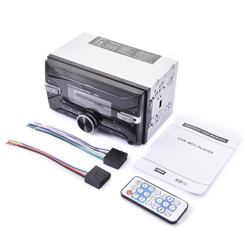 Rétro-éclairage Bluetooth voiture stéréo Radio FM Aux entrée récepteur USB/SD/MP3 ISO 12 V In-dash 2 Din voiture MP3 lecteur multimédia