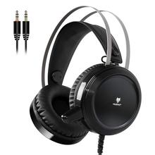 цена на NUBWO N1 Gaming Headset Stereo Headset Wired PC Headphone with Noise Canceling Mic Over Earphone Gaming Headset Golden