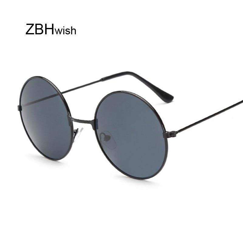 Retro Small Round Sunglasses Women Vintage Brand Shades Male Black Metal Sun Glasses For Female Fashion Designer Lunette