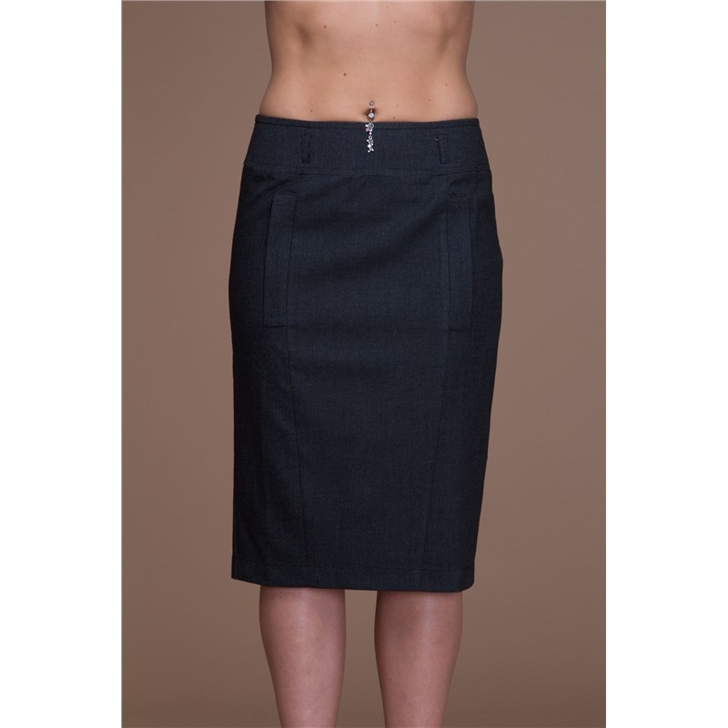 Office skirt with pockets and zipper in the back. knot front zip up back skirt