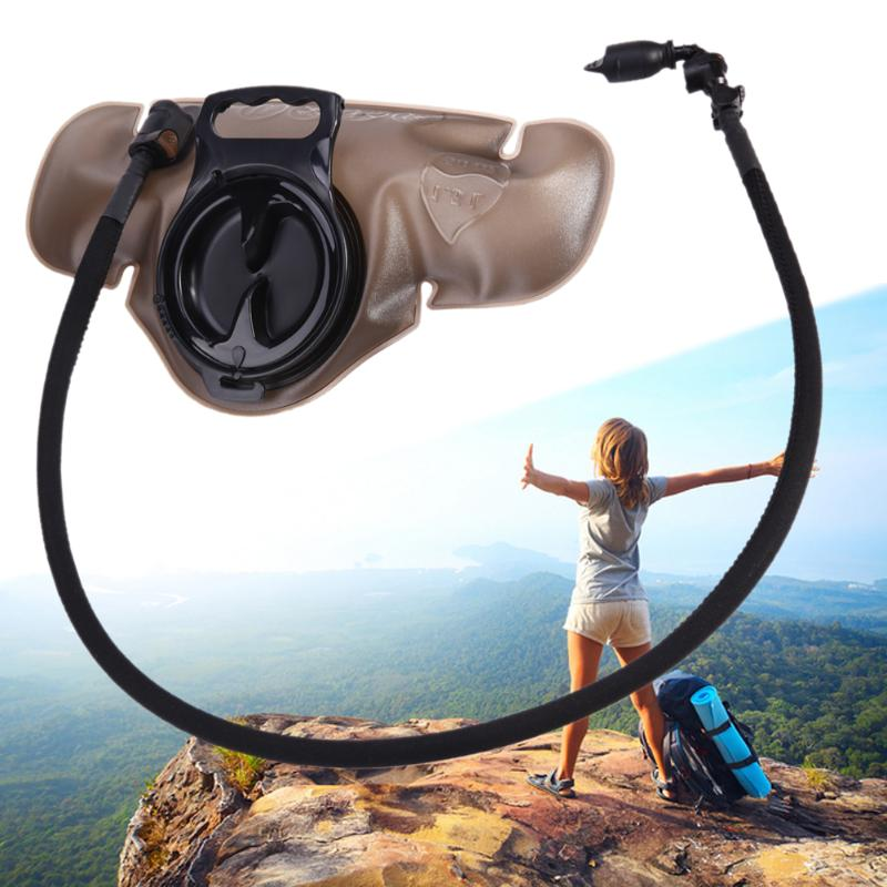 1.5L Silicone Nozzle Bite Valve Cycling Water Bag Outdoor Camping Hiking Tools Cycling Water Bladder Waist Bag Hydration