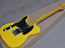 Factory High Quality Yellow Electric Guitar with Left Handed,Chrome Hardware,Black Pickguard стоимость