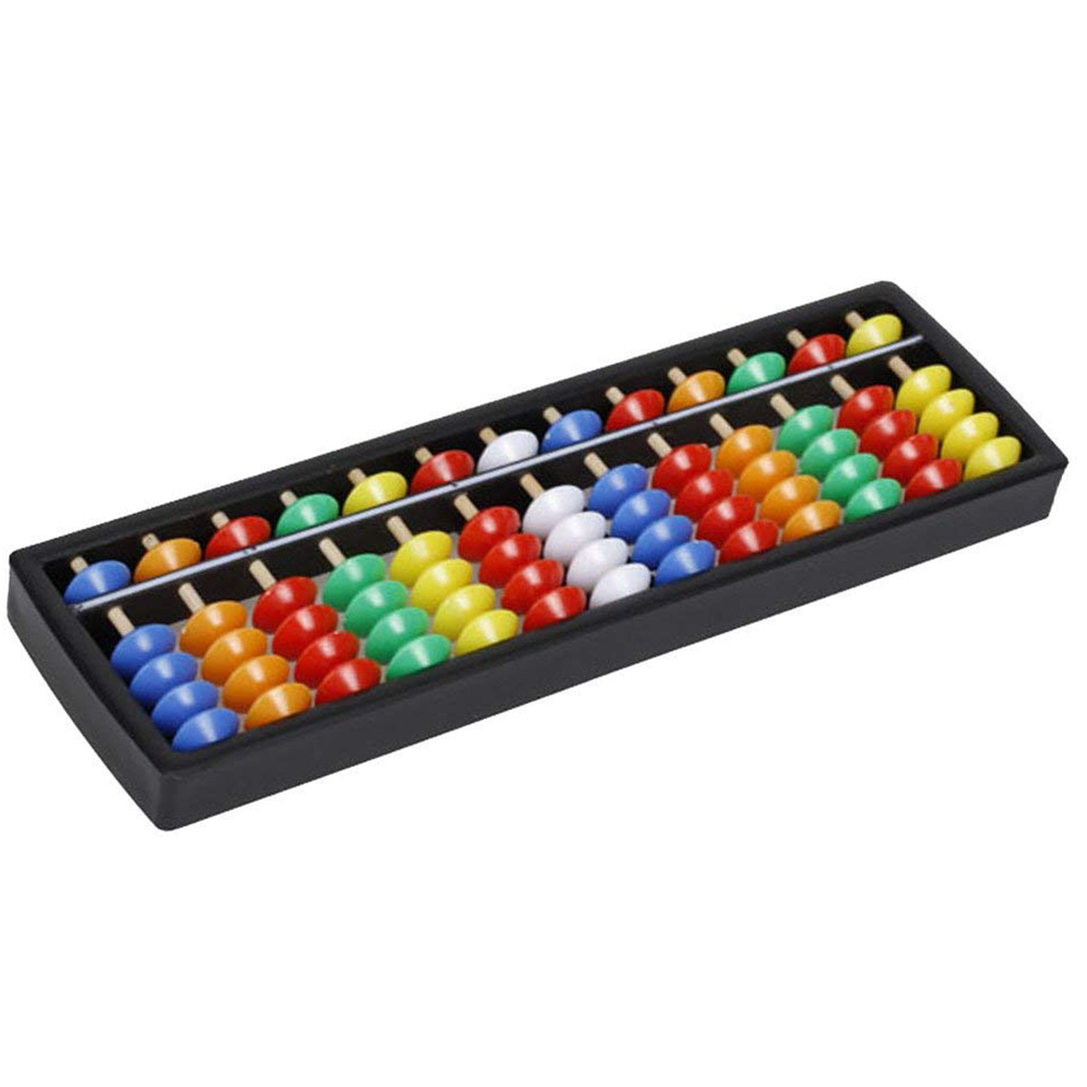 Plastic Abacus Arithmetic Soroban Calculating Tool 13 Rods With Colorful Beads Great Educational Tool For Kids