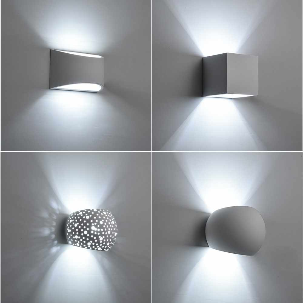 Modernistyczne Detail Feedback Questions about Handmade Plaster Wall Lamp 5W Led CL33