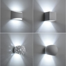 Hot Sale Plaster Wall Lamp Indoor Sconce Modern Gypsum Lights with 5W G9 LED Bulb AC110V AC220V Home Lighting Fixture