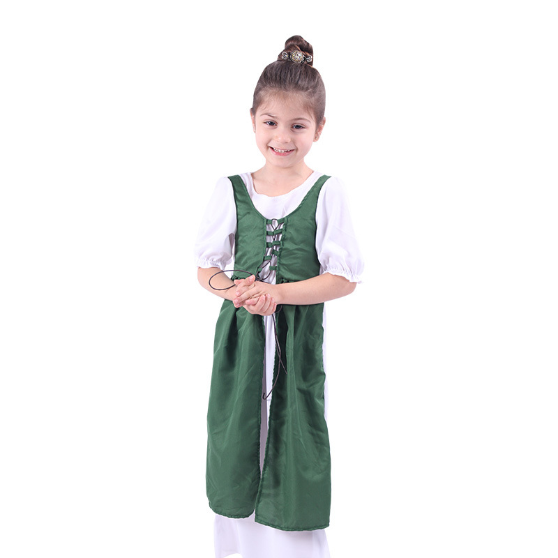 New Arrival Ireland Kids Costume Cosplay Children Halloween Carnival British Style Dress For Girl Boys Party Performance Clothes
