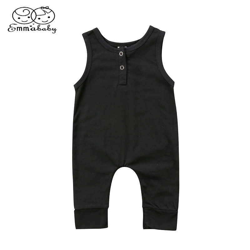 New Newborn Toddler Infant Kids Baby Girls Boys   Romper   Sleeveless Jumpsuit Harem Pants Clothes Solid Outfits 0-18M