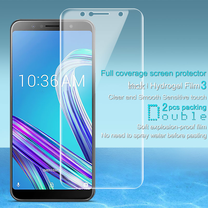 for Asus Zenfone Max Pro M1 ZB602KL Screen Protector IMAK Hydrogel III Front 0 15MM Soft