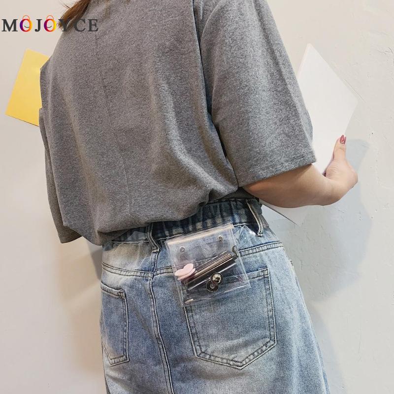 Small PVC Belt Bag Transparent Fanny Pack Women New Fashion Super Mini Clear Waist Bags