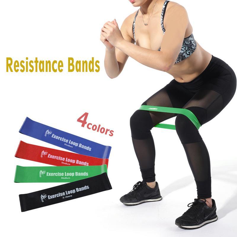 4 Pcs Fitness Equipment Resistance Bands Yoga Rubber Loop High Elasticity Bands Sport Training Equipment Unisex Drop Shipping