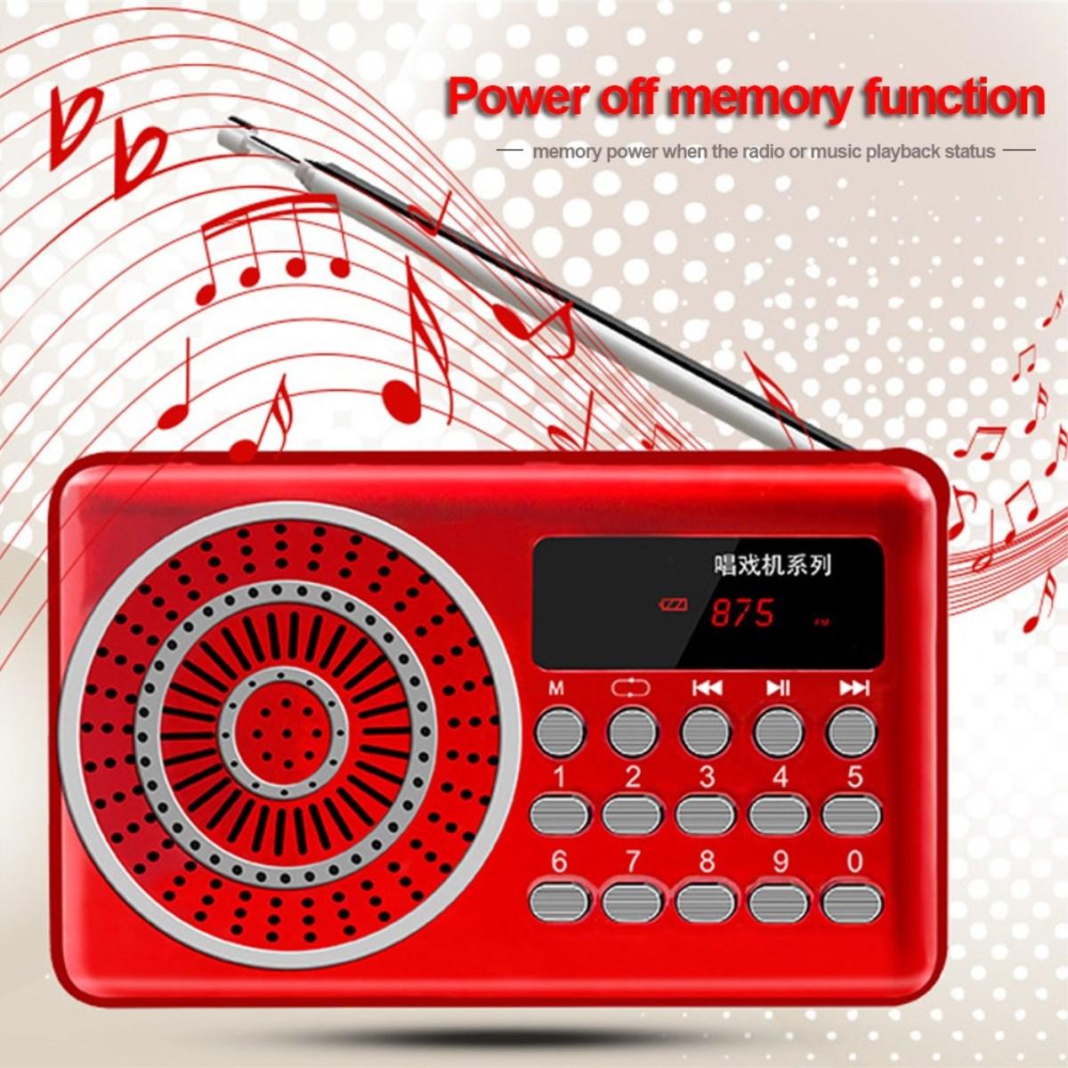 Tragbares Audio & Video Herrlich Tragbare Radio Mini Handheld Fm Usb Tf Mp3 Musik Player Lautsprecher Wiederaufladbare Dc5v Digital Radio Wir Nehmen Kunden Als Unsere GöTter