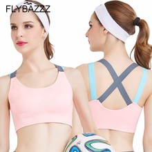 Fitness Yoga Push Up Sports Bra for Womens Gym Running Padded Tank Top Athletic Vest Underwear Shockproof Strappy Sport Bra Tops gym high quality bandage sports bra women fitness running bra tops exercise brand yoga vest shockproof sport tank tops