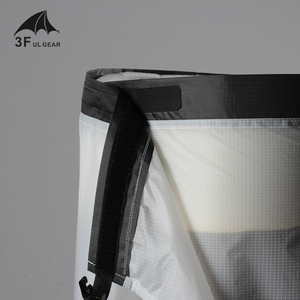 Image 4 - 3F UL ציוד רכיבה על אופניים קמפינג טיולי גשם מכנסיים קל משקל עמיד למים גשם חצאית 15D סיליקון רק 65g