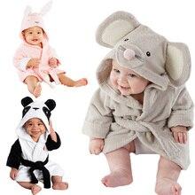 Лидер продаж года; банный халат с капюшоном и рисунком животных для маленьких мальчиков и девочек; Банное полотенце; махровый купальный Халат