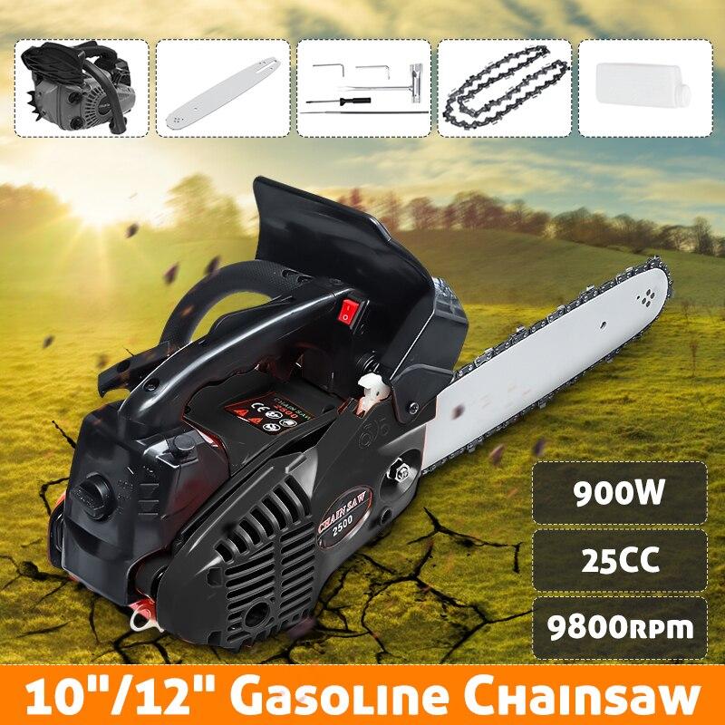 900 W 12 scie à chaîne à essence coupe bois 25CC 9800rmp scie à chaîne à gaz