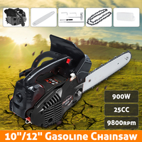 900W 10/12 Gasoline Chainsaw Machine Cutting Wood 25CC 9800rmp Gas Chain Saw