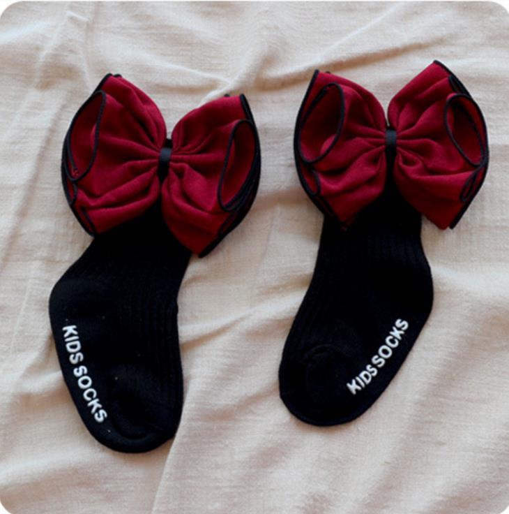 Kleinkind Baby Mädchen Kinder Socken Blume Bogen Nette Prinzessin Hohe Socken Mädchen 0-4y
