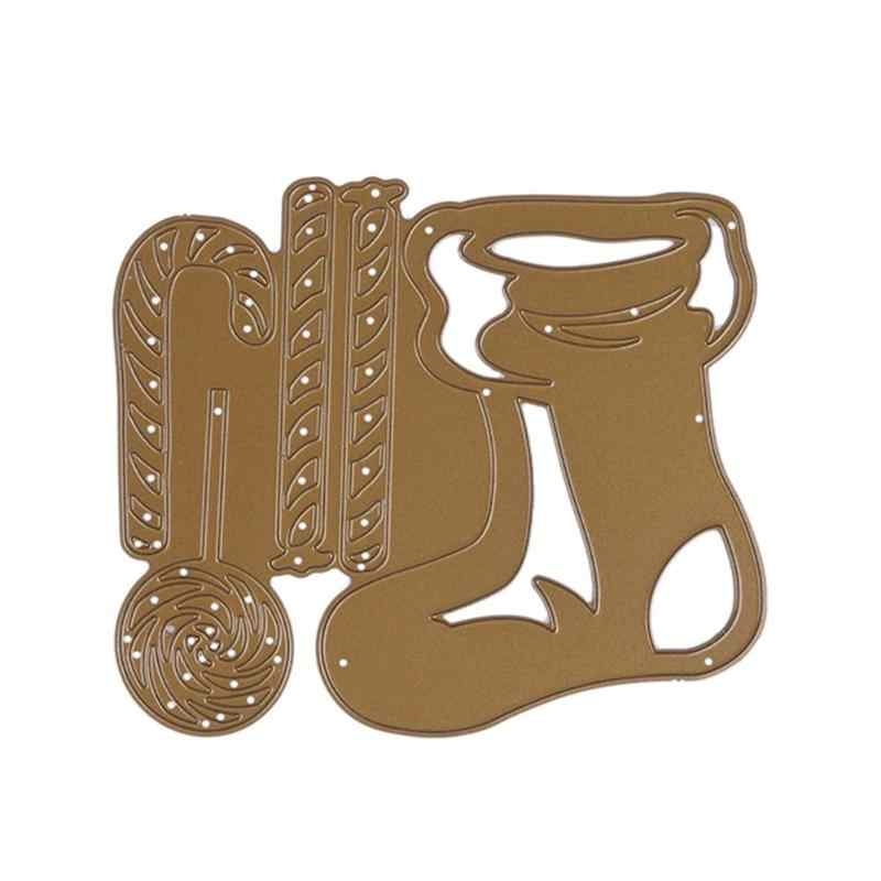 Christmas Stockings Socks DIY Cutting Die Metal Stencil for Scrapbook Craft