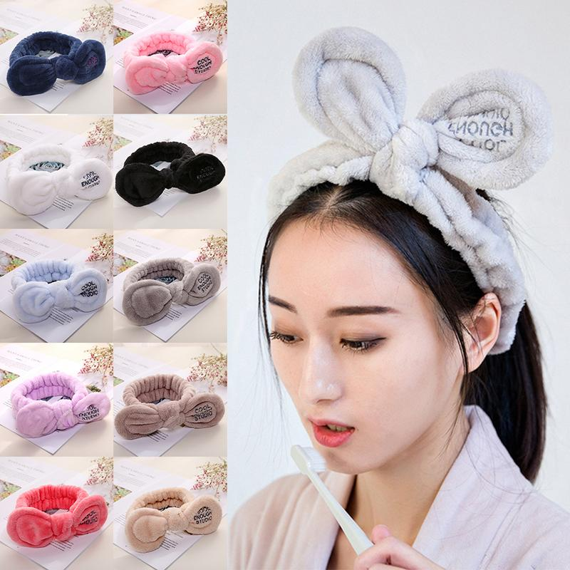 Girl's Accessories Korea Ribbon Bunny Hair Bands Rabbit Ears Hairband Flower Crown Headbands For Girls Hair Bows Hair Accessories D Professional Design