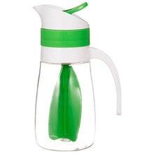 Творческий салатный сок ручной бутылка фруктовый салат вращающийся смеситель специй вверх мешалка напиток Бутылочки для хранения соков бутылка для пикника